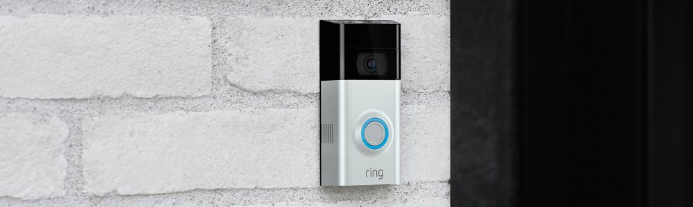 Ring Video Doorbell mounted on front door